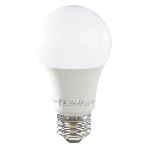 TCP LED 6 Watt A19 Non-Dimmable 5000K (L6A19N1550K)