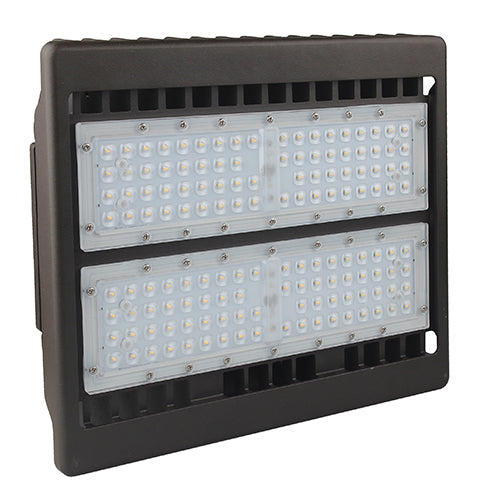 Best Lighting Products Standard 100 Watt LED Flood Light with Knuckle Mount - 5000K 120V-277V 12,084 Lumens Bronze Fixture (LEDMPALPRO100-5K-T3)