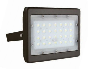 Best Lighting Products Standard 49 Watt LED Flood Light with Yoke Mount - 5000K 120V-277V 5,793 Lumens Bronze Fixture (LEDMPALPRO50-Y-5K)