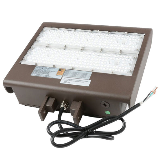 Best Lighting Products 98 Watt LED Flood Light - 5000K 120V-277V 80 CRI 13,418 Lumen Bronze Fixture (MPALPRO-13-5K-UNV-SF-T3)