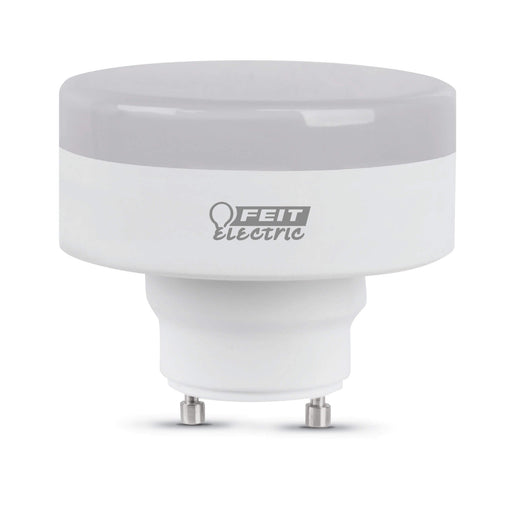 "Feit Electric LED 60 Watt Equivalent, Puck Squat Bulb 2.8"" MOL, GU24 Base, Dimmable, 800 Lumens, 3000K Bulb (PU60/830/LED/GU24)"