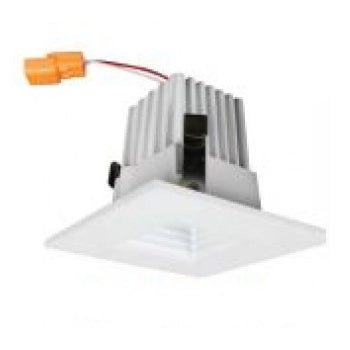 Barron Lighting Group 2 Inch LED Trim 3000K CCT Square Baffle White Finish (BLED-2T-BW-SQ-3K)