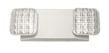 Barron Lighting Group Thermoplastic Emergency Unit 2 LED Heads NiCad Battery White Finish (LED-90)