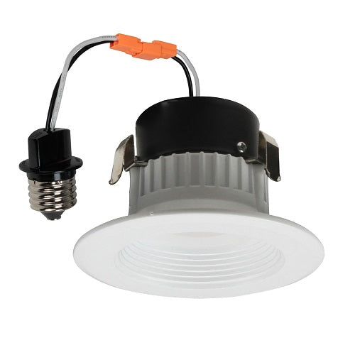 Best Lighting Products 3.5 Inch LED White Baffle Downlight Fixture (BRK-LED350-BW-3K)