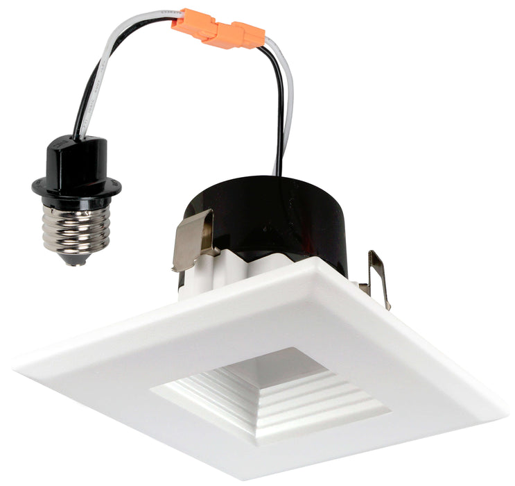 Best Lighting Products 3.5 Inch LED White Square Baffle Downlight Fixture (BRK-LED350-BWSQ-3K)