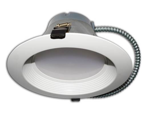Best Lighting Products 8 Inch 27 Watt LED Downlight White Baffle 5K Retrofit Fixture (BRK-LED8A-BW-27W-5K-ECO)