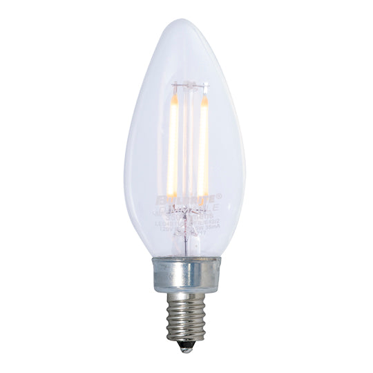 Bulbrite LED4B11/30K/FIL/E12/2/JA8 4.5W LED B11 3000K Filament E12 Fully Compatible Dimming (776676)