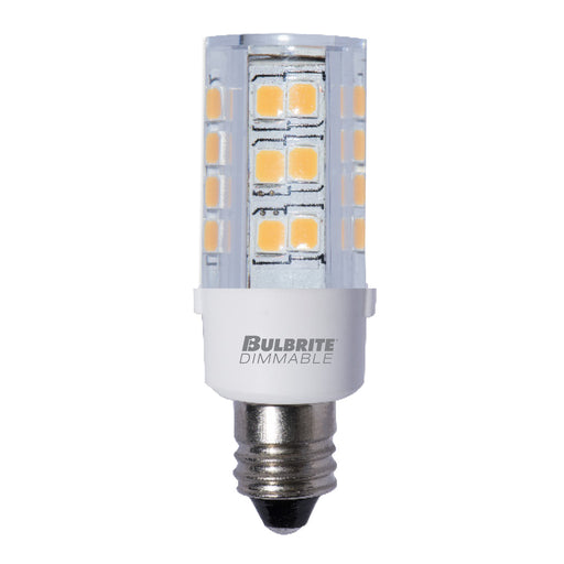 Bulbrite LED4E12/30K/120/D 4.5W LED E12 Clear 3000K 120V Dimmable (770584)
