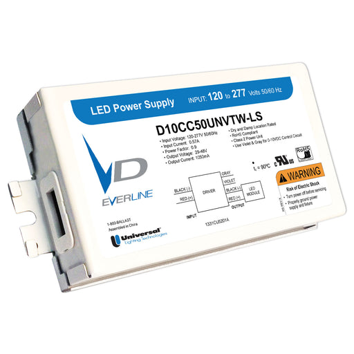 Universal Everline 30 Watt Constant Current LED Driver 120V-277V Input 700mA and 15V-56V Output 0-10V Dimmable (D700C30UNVTW-L)