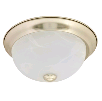 "Sylvania 74302 20 Watt 11"" LED 0-10V Dimmable Brushed Nickle Flush Dome Fixture - 2700K 120V 80 CRI 1000 Lumen (LEDFLUSHDOME11IN20DIM827BN)"