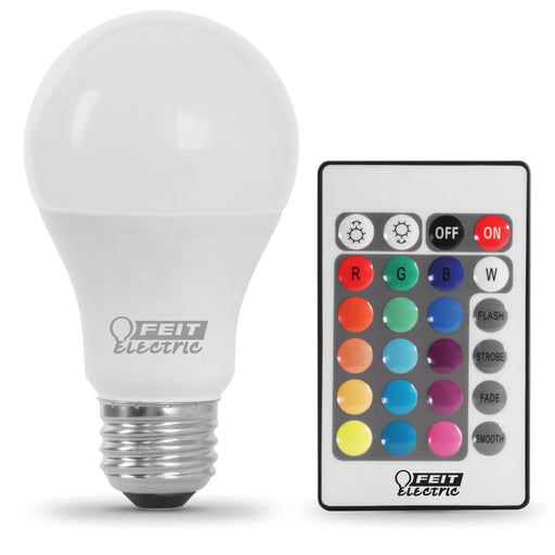 Feit Electric 6 Watt A19 LED 120V Medium (E26) Base Remote Control Color Changing Bulb (A19/HP/PARTY/LEDG2)