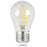Feit Electric A15 Filament LED, 25 Watt Equivalent, Dimmable, Clear, Medium Base, 300 Lumen, 2700K Bulb, 2 Pack (BPA1525/827/LED/2)