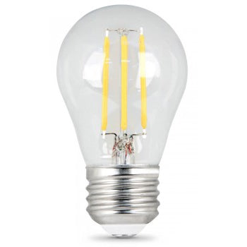 Feit Electric A15 Filament LED, 60 Watt Equivalent, Dimmable, Clear, Medium Base, 500 Lumen, 2700K Bulb, 2 Pack (BPA1560/827/LED/2)