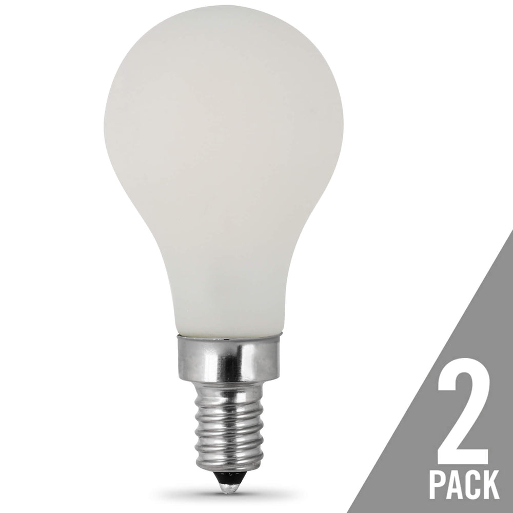 Feit Electric A15 Filament LED - 60 Watt Equivalent - Dimmable - White - 500 Lumen - 2700K Bulb - 2 Pack (BPA1560W927CAFIL2/RP)