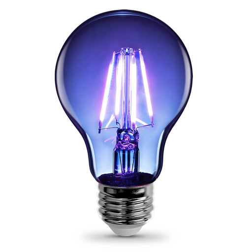 Feit Electric Filament Colored LED 3.6W, Med Base A19, Transparent Blue Bulb (A19/TB/LED)