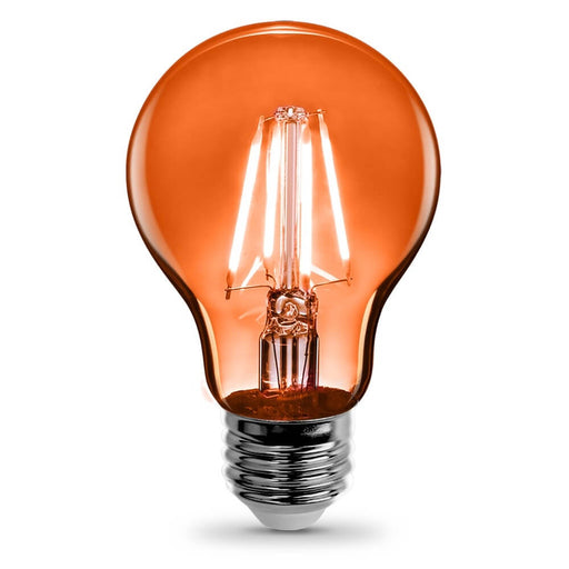 Feit Electric Filament Colored LED 3.6W, Med Base A19, Transparent Orange Bulb (A19/TO/LED)