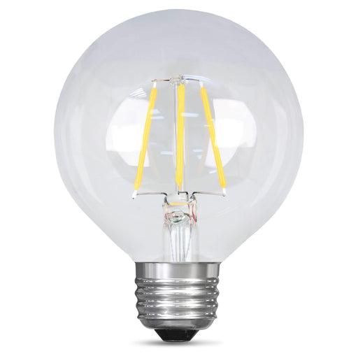 Feit Electric Filament LED, 25 Watt Equivalent, Dimmable, Medium Base, Clear, Globe G25, 200 Lumen, 2700K Bulb (BPG2525/827/LED)
