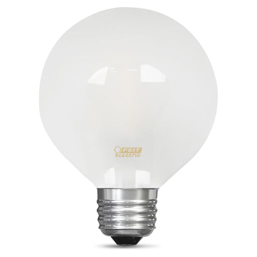 Feit Electric Filament LED, 25 Watt Equivalent, Dimmable, Medium Base, Frost, Globe G25, 200 Lumen, 2700K Bulb (BPG2525/F/827/LED)