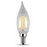 Feit Electric Filament LED, 40 Watt Equivalent, Dimmable, Bent Tip, Candelabra Base, Clear, Decorative Bulb, 300 Lumen, 2700K Bulb, 4 Pack (BPCFC40/827/LED/4)