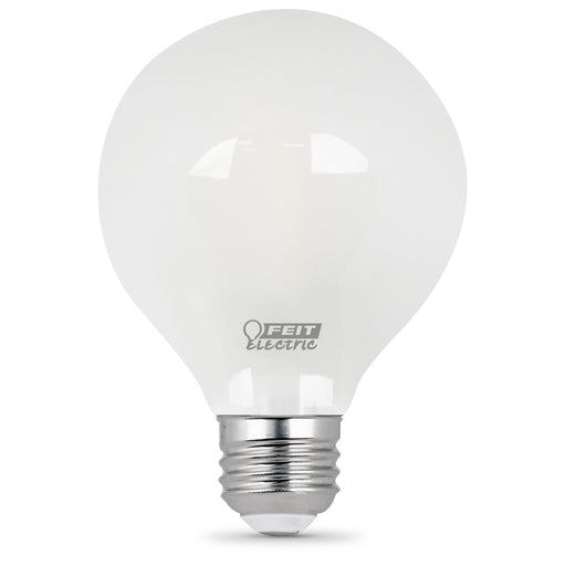 Feit Electric Filament LED, 40 Watt Equivalent, Dimmable, Medium Base, Frost, Globe G25, 300 Lumen, 5000K Bulb (BPG2540/F/850/LED)