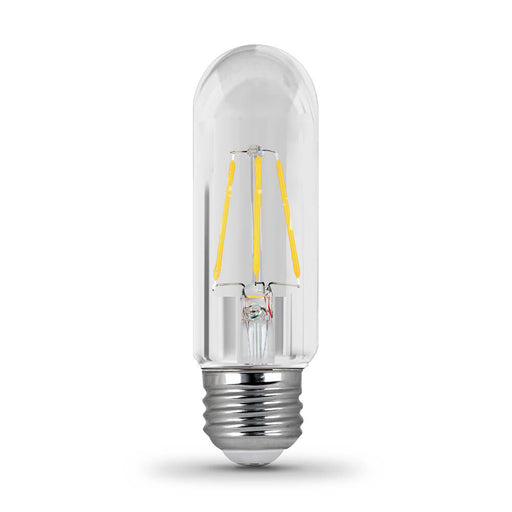 Feit Electric Filament LED - 40 Watt Equivalent - Dimmable - Medium Base - Clear - Tubular T10 - 410 Lumen - 2700K Bulb - (BPT1040/927CA)