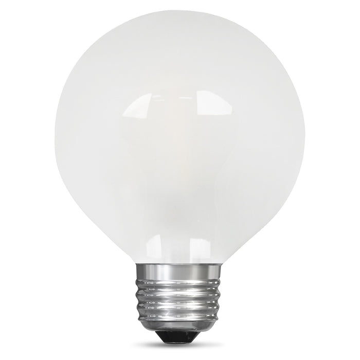 Feit Electric Filament LED, 60 Watt Equivalent, Dimmable, Medium Base, Frost, Globe G25, 500 Lumen, 5000K Bulb (BPG2560/F/850/LED)