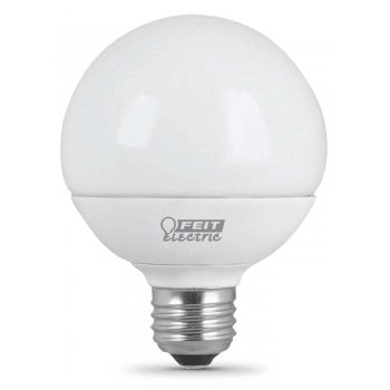 Feit Electric G25 Globe, 60 Watt Equivalent, Frost, LED, 3000K 3 Pack Bulb (G2560/10KLED/3)