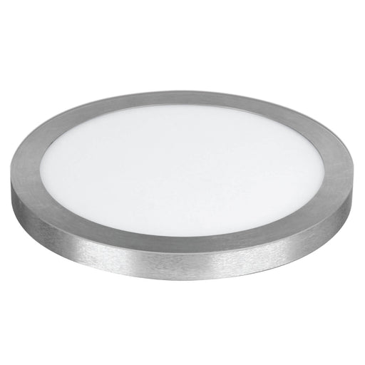 "Feit Electric 4000K Dimmable LED 15"" Ultra Slim, Round Flat Panel, Edge-Lit Design, Flush Mount, Nickel Trim Fixture (74046-G2)"