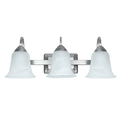 Feit Electric LED 3-Light 3000K Dimmable LED Brushed Nickel Vanity w/ Alabaster Glass Bulb (73802)