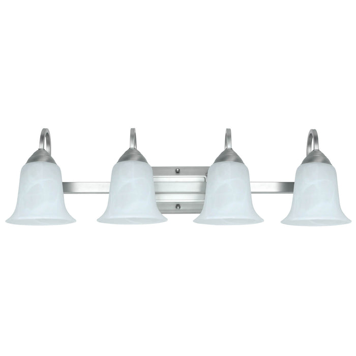Feit Electric 3000K Dimmable LED 4-Light LED Brushed Nickel Vanity w/ Alabaster Glass Bulb (73805)