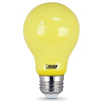 Feit Electric LED A-Shape, Non Dimmable, Omni-Directional, Filament, Yellow Bug Light , 60W Equivalent Bulb (A19/BUG/LED)