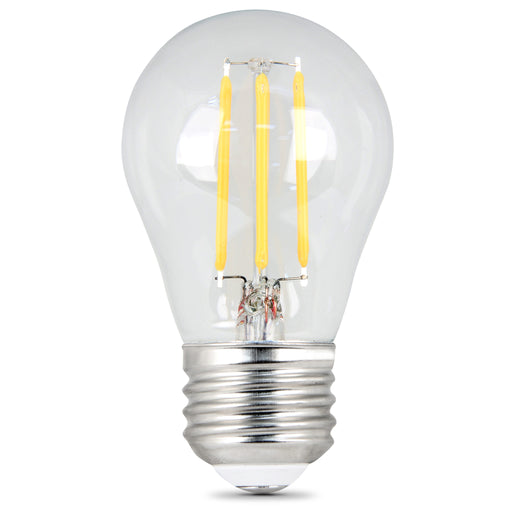 Feit Electric LED A15 40W Equivalent, 450 Lumens, Filament Clear Glass, Medium Base, 5000K 2 Pack, CEC Compliant Bulb (BPA1540/950CA/FIL/2)