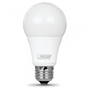 Feit Electric LED A19 60W Equivalent - 800 Lumens - Dimmable 3000K 2 Pack - CEC Compliant Bulb (OM60DM/930CA/2)