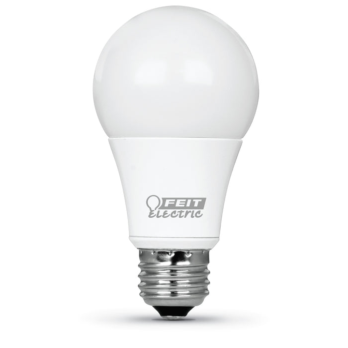 Feit Electric LED A19 60W Equivalent, 800 Lumens, Dimmable, 3000K 4 Pack, CEC Compliant Bulb (OM60DM/930CA/4)