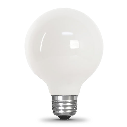 Feit Electric LED Globe G25 40W Equivalent - 350 Lumens - Filament White Glass - Medium- 2700K CEC Compliant Bulb (BPG2540W927CA/FIL/RP)