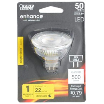 Feit Electric LED MR16 50W Equivalent, 500 Lumens, Dimmable, 3000K 12V, CEC Compliant Bulb (BPEXN/930CA)