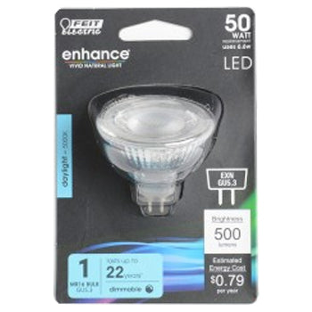 Feit Electric LED MR16 50W Equivalent, 500 Lumens, Dimmable, 5000K 12V, CEC Compliant Bulb (BPEXN/950CA)