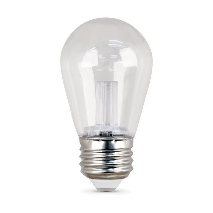 Feit Electric LED S14 Bulb, Non Dimmable, Clear, 3000K, Medium Base Bulb (BPS14/SU/LED)