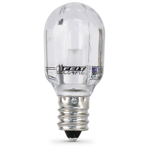 Feit Electric LED T6 Tubular Appliance, Clear, 3000K, Candelabra Base Bulb (BPT6/SU/LED)