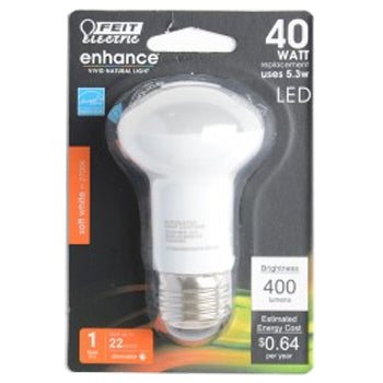 Feit Electric R16 Mini Reflector - Dimmable LED - 40W Equivalent 2700K Bulb (BPR16DM/927CA)