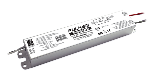 Fulham ThoroLED - Single Channel - 0-10V Dimming LED Driver - Universal Voltage Input - 12V DC Constant Voltage Output - 75W Max - IP64 (T1M1UNV012V-75L)