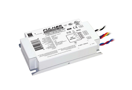 Fulham WorkHorse LED Extreme - Single Channel - 0-10V Dimming LED Driver - Universal Voltage Input - Programmable 500-1500mA Constant Current Output - 100W Max - Compact Case w/ End Terminals - IP65 (T1M1UNV150P100C)