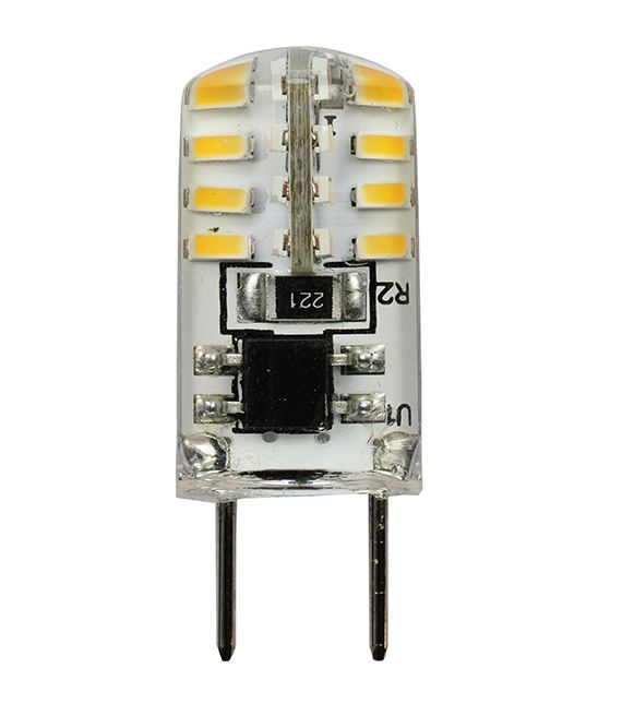 Standard 2 Watt LED 3000K 120V 320 Lumen Bipin (G8) Base Bulb (LED-G8-SHORT-120V-3K)