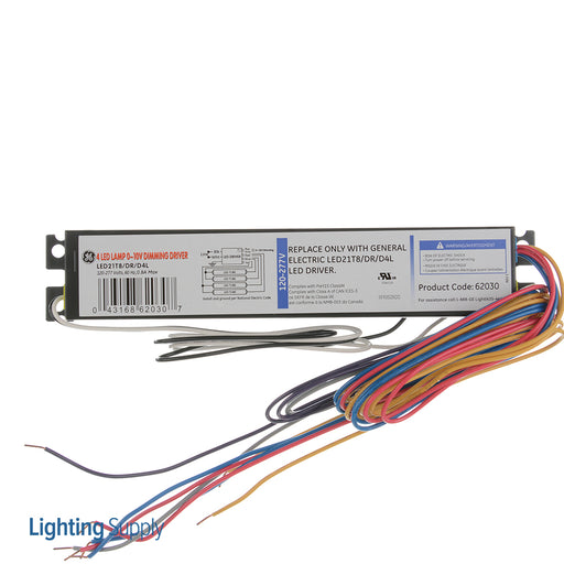 GE 120-277V 0-10V Dimming Driver 4 LED (LED21T8/DR/D4L)