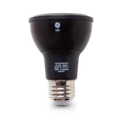 GE 93327 PAR20 LED 7W 520 Lumens 80 CRI Screw-In Medium Dimmable Indoor Spotlight (LED7DP203B830/20)