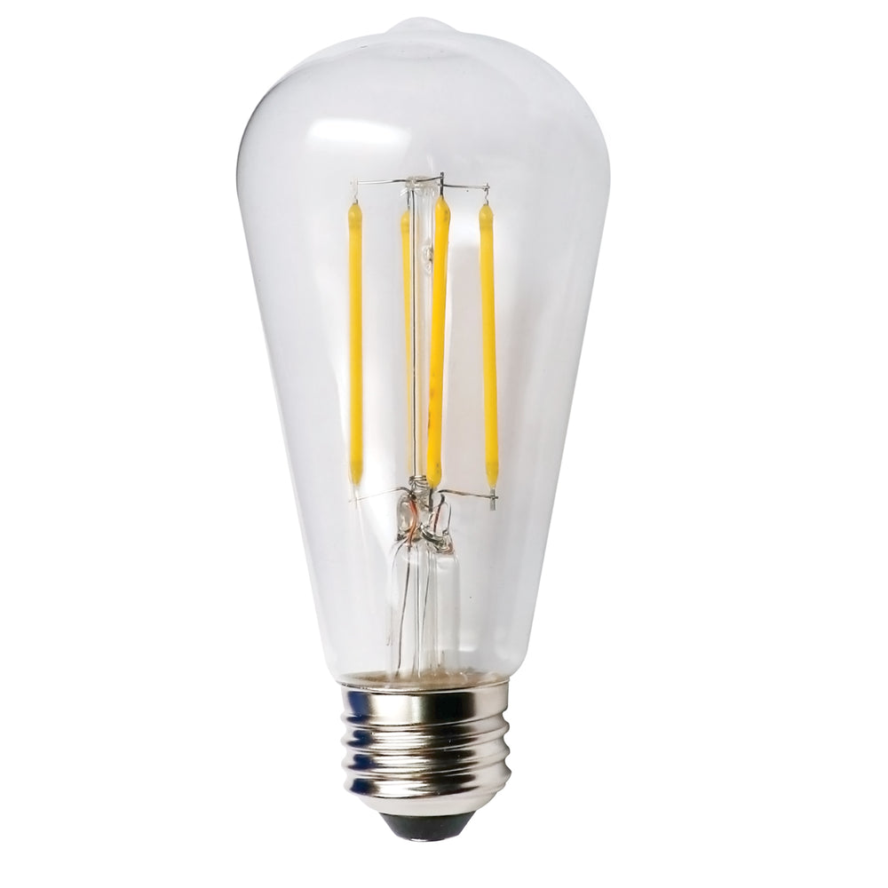 Halco 85045 ST19 120V 7W 2700K E26 Clear PROLED (ST19CL7ANT/827/LED2)