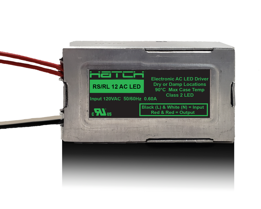 HATCH 120V 60W 12V AC LED Driver Class 2(RS12-60M-LED-FCC)