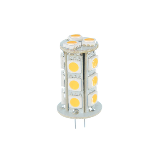 Halco 80690 2.4 Watt LED JC20 3000K 10V-18V 82 CRI Bipin (G4) Base Bulb (JC20/2WW/LED)