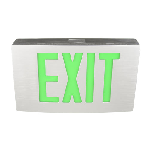 Best Lighting Die Cast Aluminum Single Face LED 120-277V Exit Sign with Battery Back-up (KXTEU-1-G-A-A-EM)