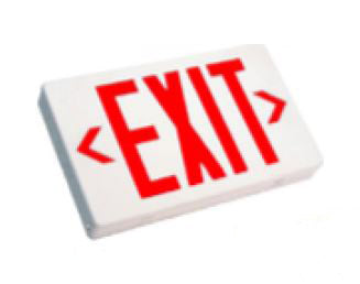 LED Emergency Exit 3.8W 5000K White Red LETTERING Universal Single/DOUBLE 120-277V EM BACKUP (XT-RW-EM)